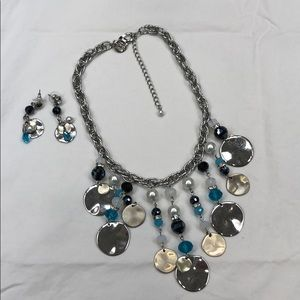 New WHBM matching earrings and necklace set